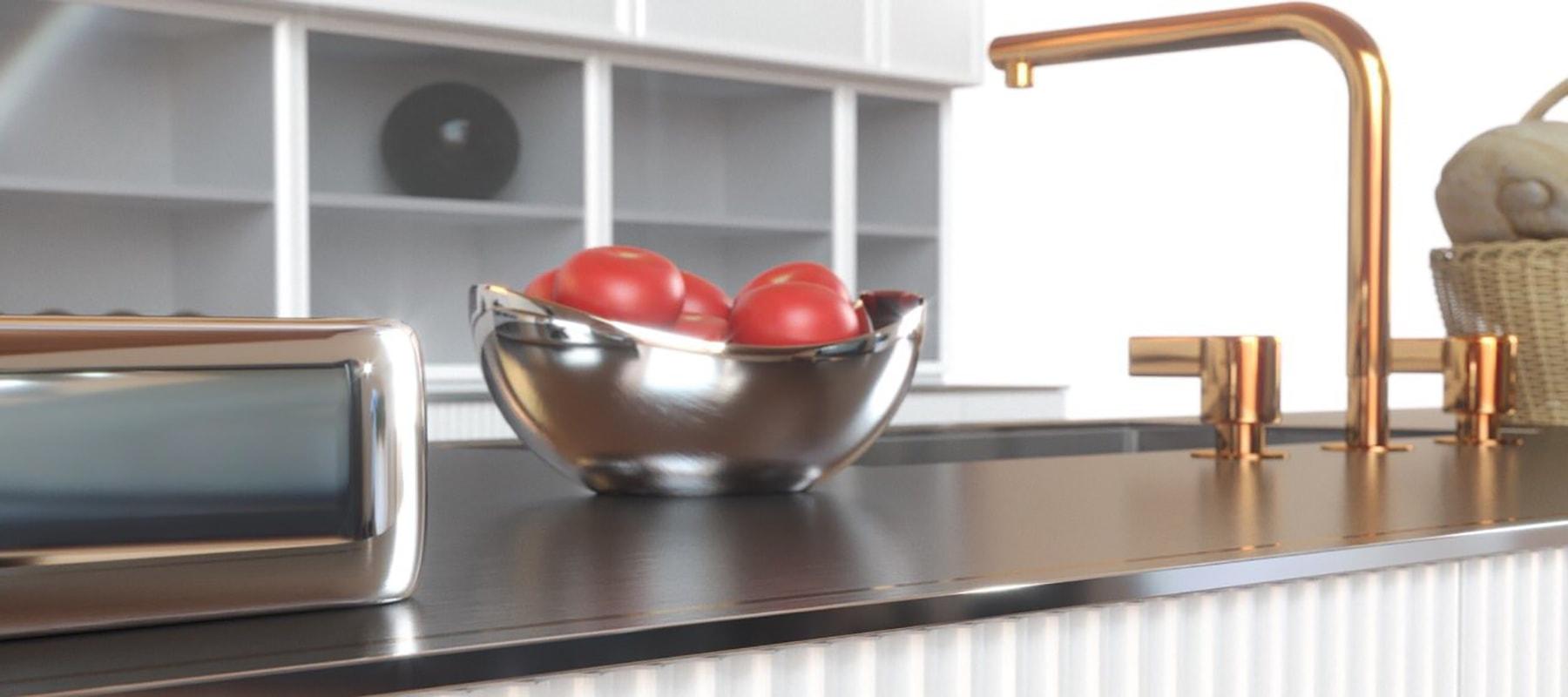 Металлические столешницы для кухни