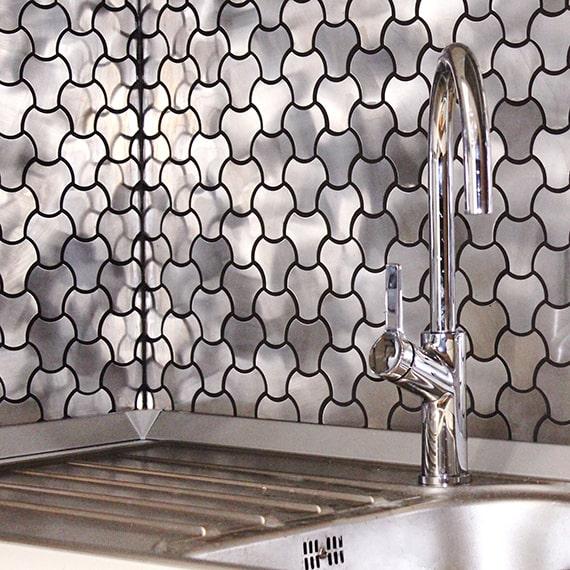Плитка мозаика из металла