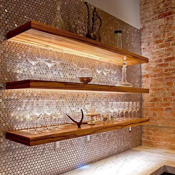 Металлическая плитка для кухни