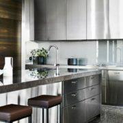 Кухонные фасады из нержавейки